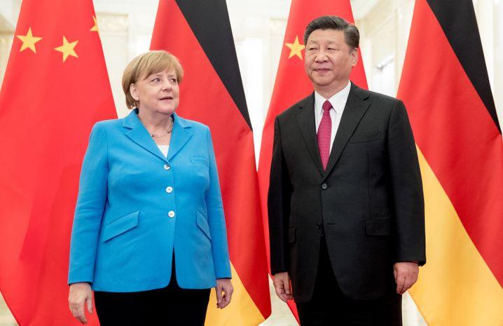 Merkel, Xi Jinping (Archiv): Die Kanzlerin ist ein häufiger Gast in Peking