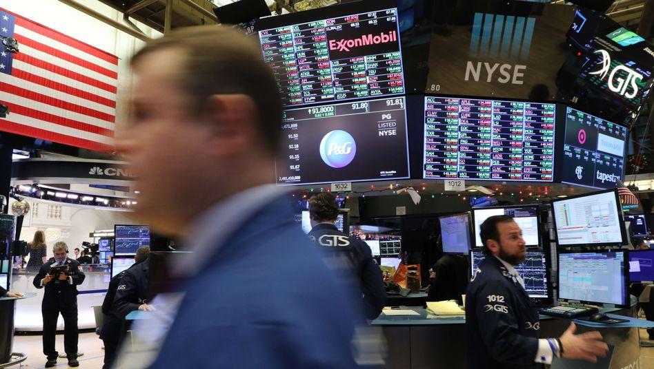 Händler an der Wall Street: Auch der US-Aktienmarkt wird nun Teil des Handelsstreits.