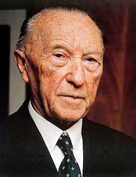 Neue Heimat: In der Bundesrepublik galt nach dem Krieg alles Deutsche als diskreditiert. Europa wurde zur kollektiven Ersatzidentität. Kanzler Konrad Adenauer wollte seinen Staat sogar mit Frankreich vereinigen.