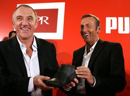 Alte Bekannte im Partnerlook: Pinault (l.) und Zeitz lassen auch den zweiten Hemdknopf offen