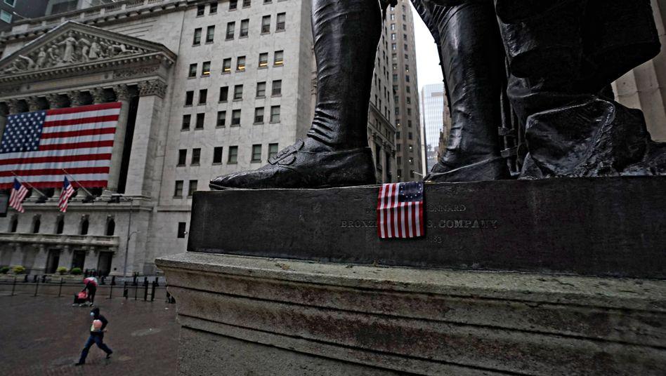 Verwaistes Herz der Finanzwirtschaft: Wall Street in der Corona-Krise.
