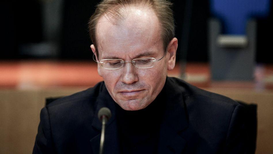 Schwarzer Pullover, dunkles Sakko: Markus Braun in gewohntem Outfit am Donnerstag im Untersuchungsausschuss in Berlin