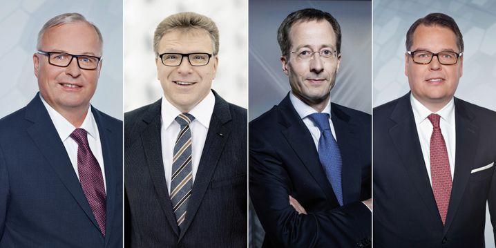 Werden ausgetauscht: Audi-Vorstände Hubert Waltl, Thomas Sigi, Axel Strotbek, Dietmar Voggenreiter