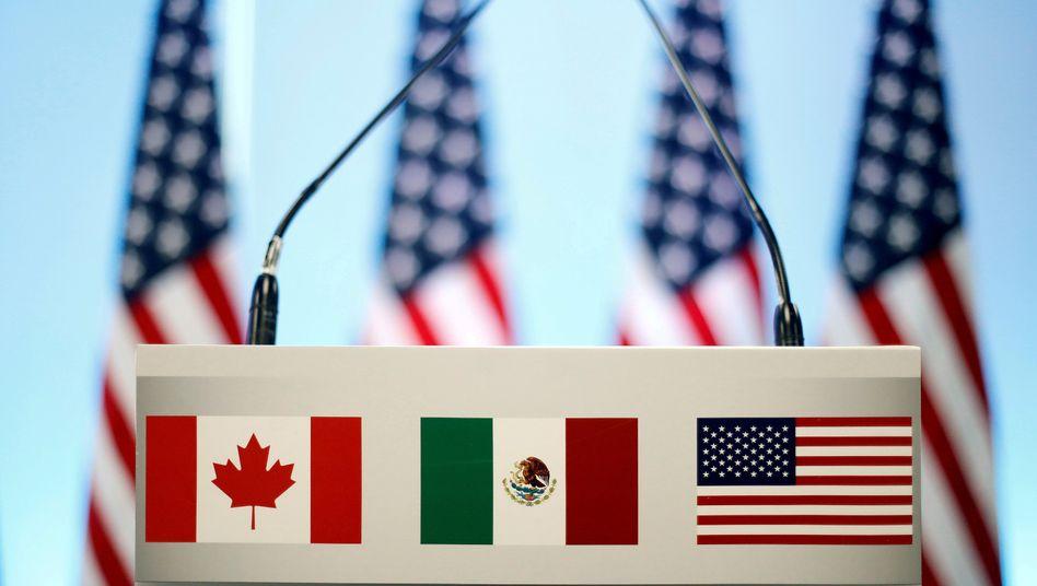 Ob es wieder ein Dreierbund wird? USA und Mexiko haben sich auf ein neues Freihandelsabkommen geeinigt, Kanada ziert sich noch, stellt Bedingungen für eine Nafta-Nachfolge