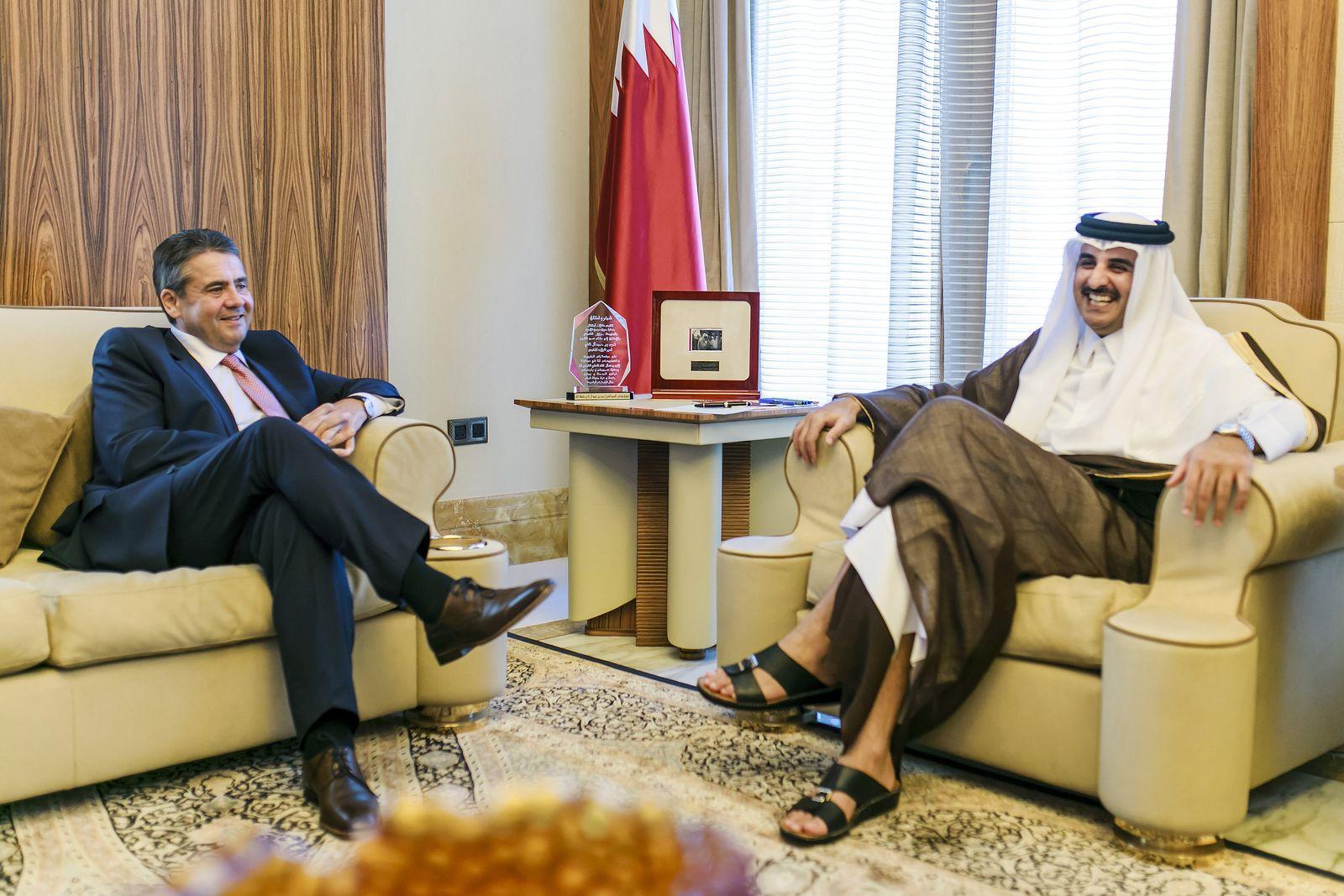 Sigmar Gabriel / Scheich Tamim bin Hamad bin Khalifa Al Thani Dohar