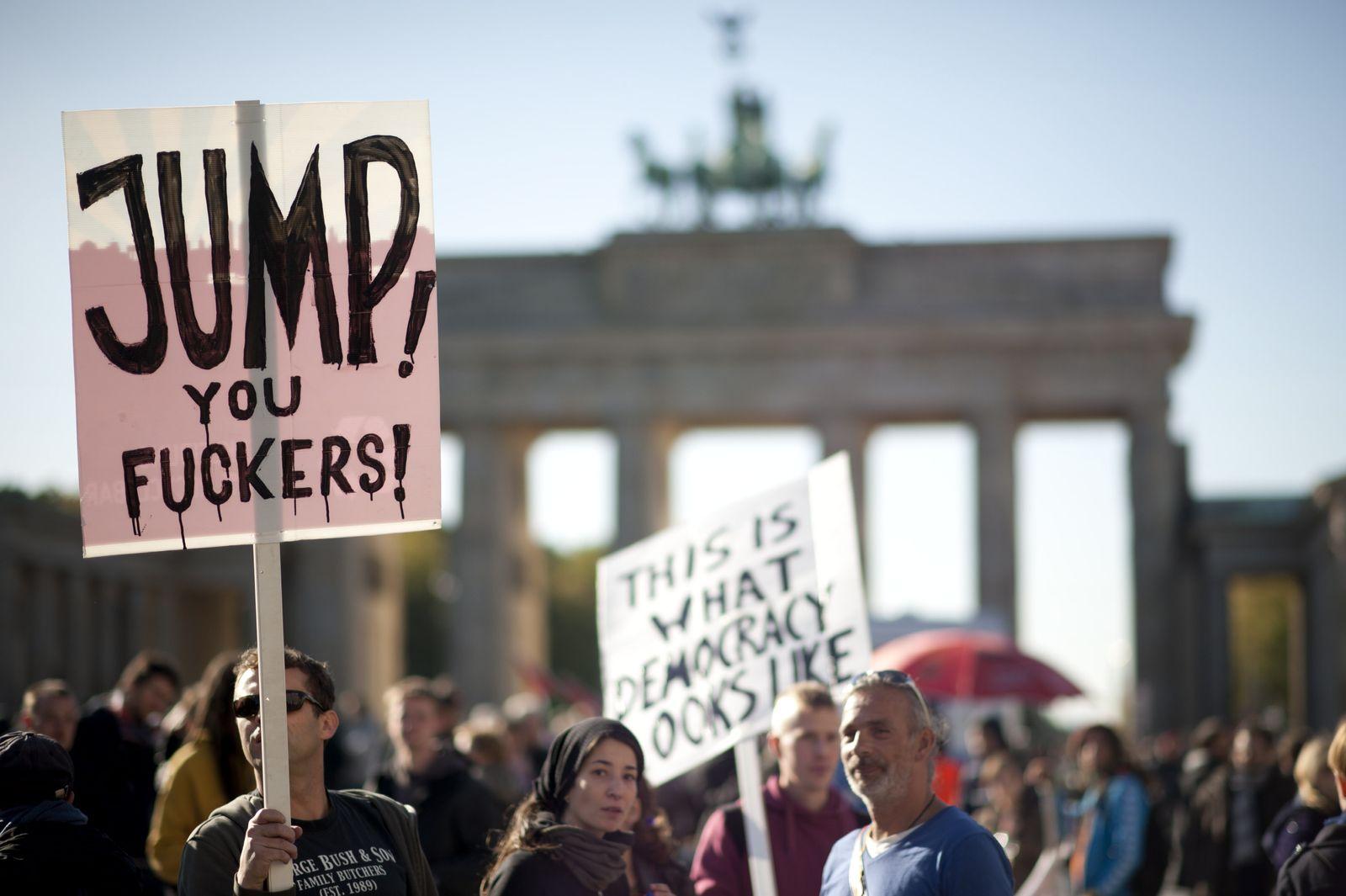 NICHT VERWENDEN Aktionen/Banken/Demonstrationen/Finanzen/Globalisierung