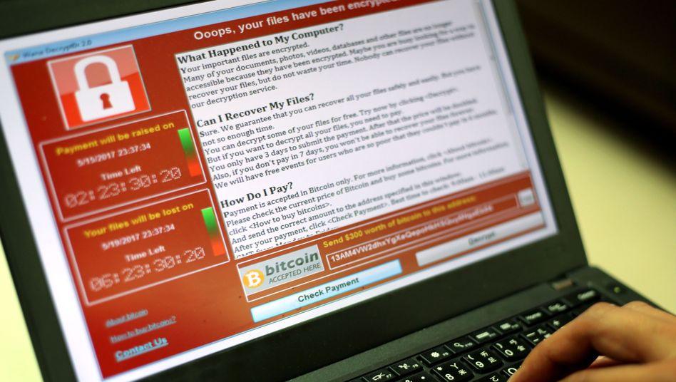 """Ransomware """"WannaCry"""": Die Schadsoftware hatte sich über das Wochenende auf mehr als 200.000 Ziele in über 150 Ländern verbreitet"""