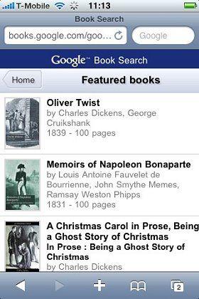 Digitalisierte Bücher wollen alle: Listenansicht bereits erfasster Werke bei Googles Book Search