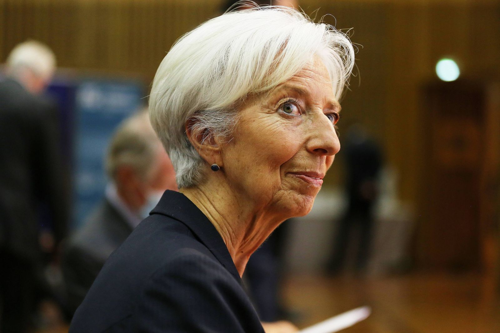 EXCLUSIF: Christine Lagarde presidente de la Banque centrale europeenne recoit un grand prix d honneur lors de la 34 em