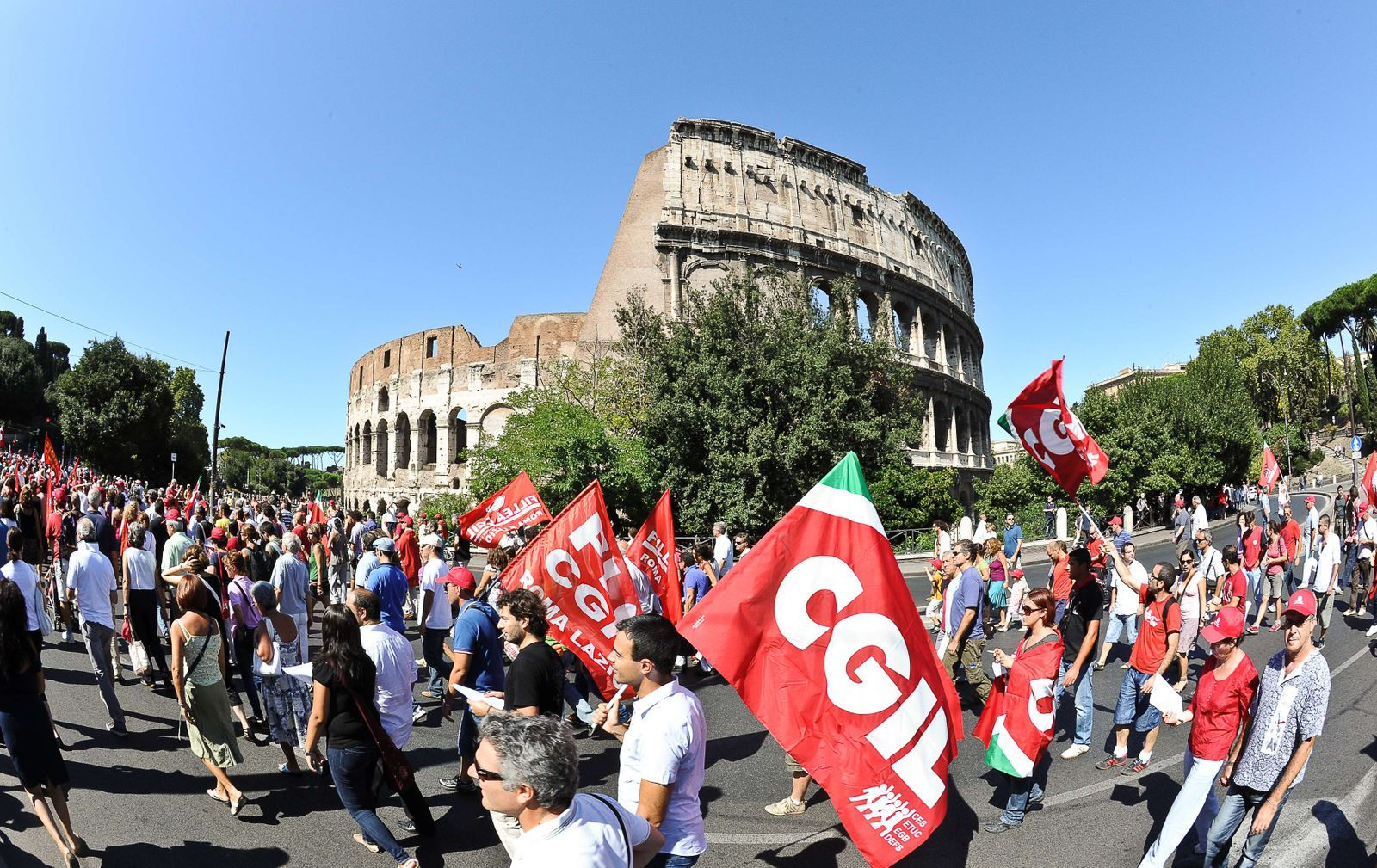 Italien / Rom / Colosseum / Streik / Demonstration