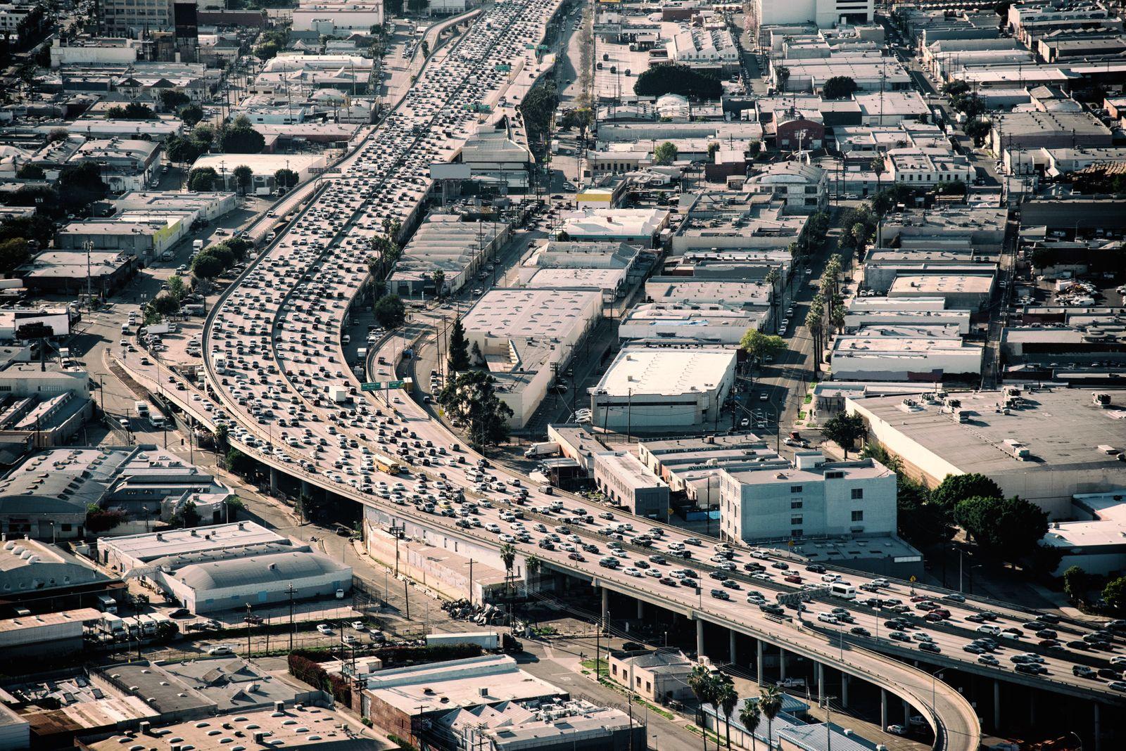 EINMALIGE VERWENDUNG Heavy traffic Los Angeles