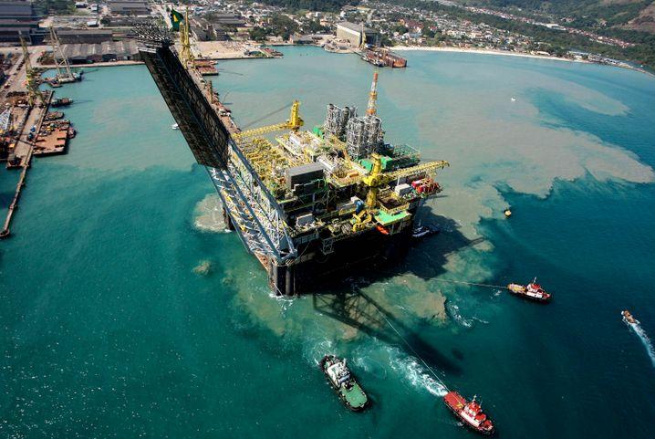 Mit dem Megaprojekte Tiefseeöl übernommen: Bohrinsel von Petrobras