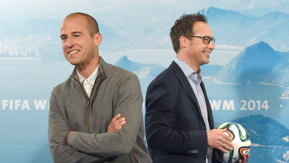 Soll pro Tag bis zu 50.000 Euro von der ARD bekommen: Mehmet Scholl (links), hier mit Matthias Opdenhövel