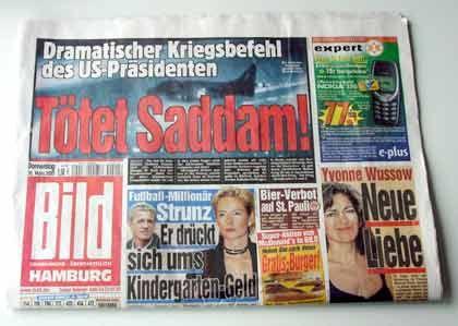 """Die Donnerstagausgabe der """"Bild""""-Zeitung"""