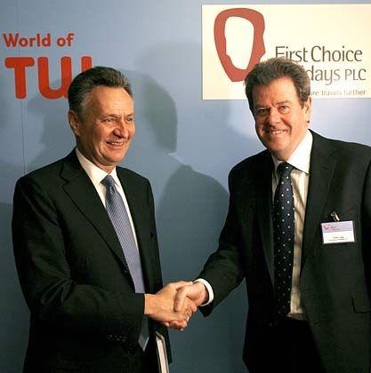 Richtungsweisend: Der frühere First-Choice-Chef Peter Long (r.) und Tui-Chef Michael Frenzel haben die Weichen für die Fusion gestellt