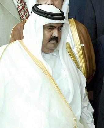 Fährt der Konkurrenz aus Dubai in die Parade: Katars Scheich Hamad bin Khalifa al-Thani