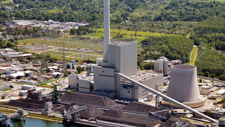 Der 2014 in Betrieb genommene Block 8 des Steinkohlekraftwerks Karlsruhe von EnBW