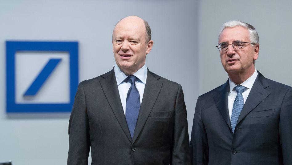 Deutsche-Bank-Frontmänner: CEO John Cryan (l) und Aufsichtsratschef Paul Achleitner.