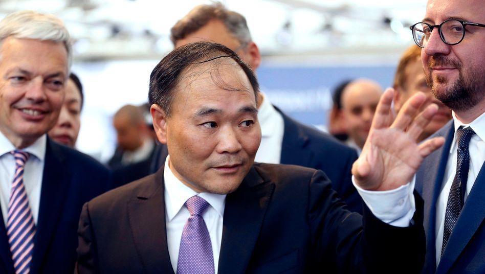 Gefällt sich in der Rolle des Kooperations-Dealmakers: Geely-Chef und Daimler-Großaktionär Li Shufu
