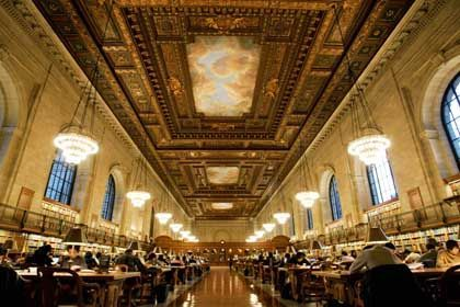"New York Public Library: Partner des Projektes ""Google Print"""