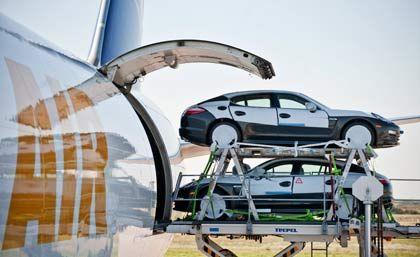 Autos auf Reisen: Die deutsche Exportwirtschaft zieht wieder an