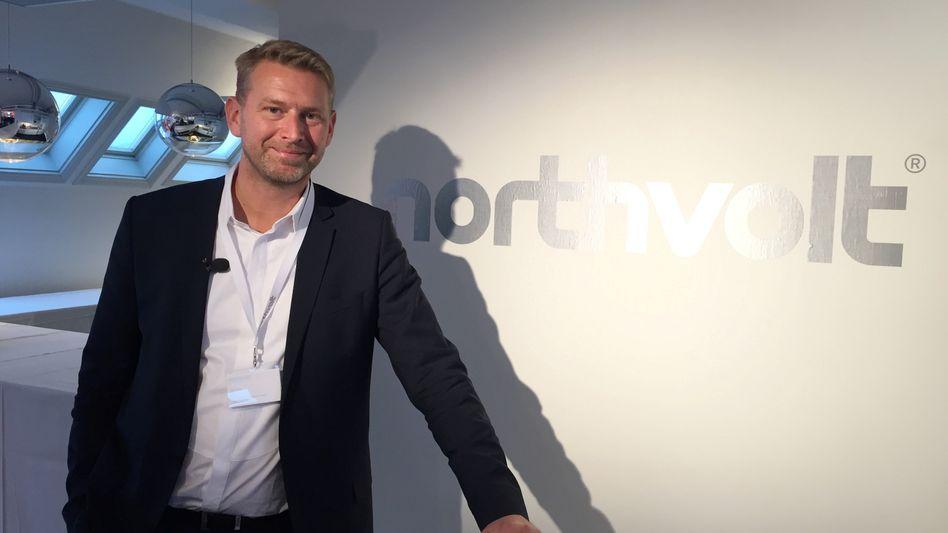 Hoffnungsträger für Volkswagen: Northvolt.-Chef Peter Carlsson in seiner Firmenzentrale in Stockholm.