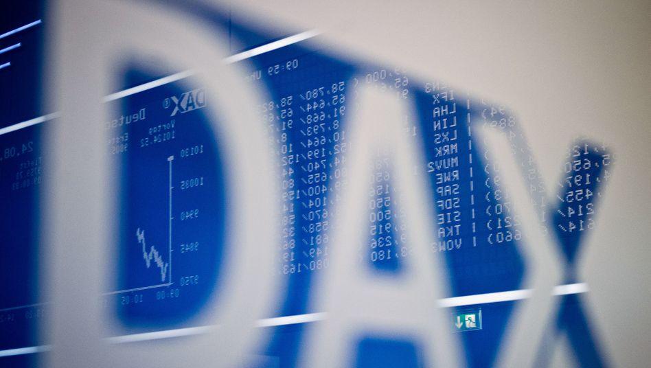 Kursgewinne: Dax-Kurstafel an der Frankfurter Börse