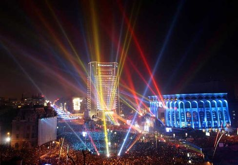 Silvester in Bukarest:Neue EU-Mitglieder Rumänien und Bulgarien