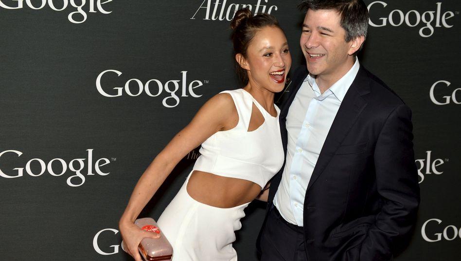 """Uber-Chef Travis Kalanick - hier mit Freundin Gabi Holzwarth - will laut """"Wall Street Journal"""" einen Milliardenkredit aufnehmen"""