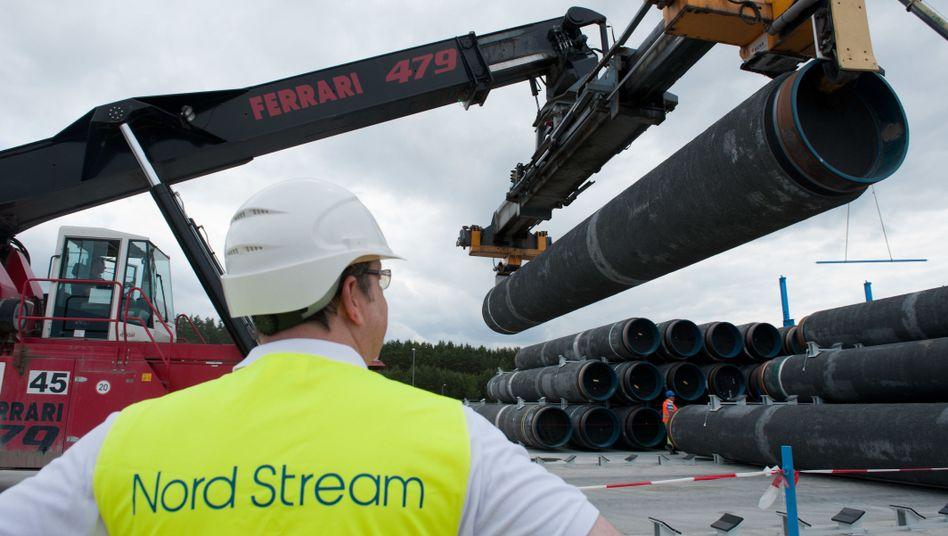 Rohre für Gaspipeline Nord Stream 2