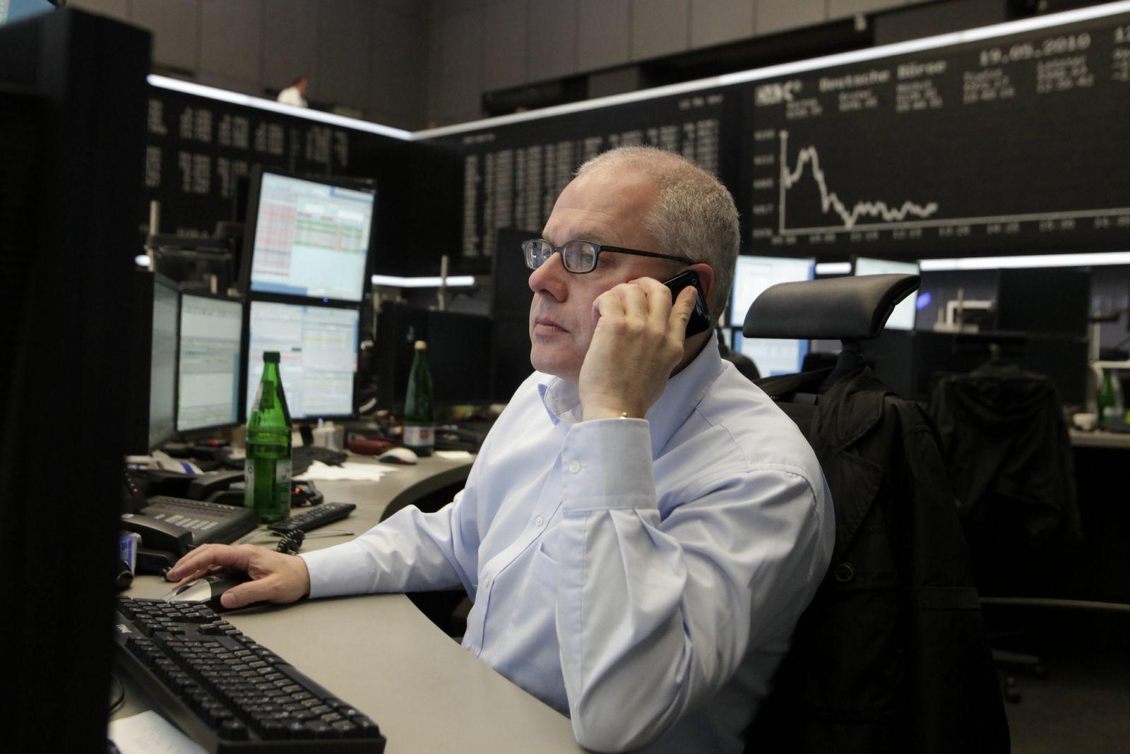 NICHT VERWENDEN Vertrauenskrise drueckt Stimmung am deutschen Aktienmarkt