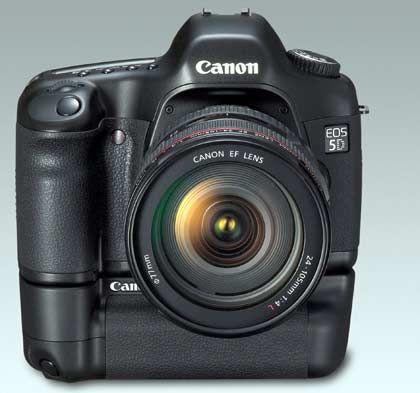 Ambitioniert: Mit der EOS 5D will Canon die Lücke zwischen semiprofessionellen Spiegelreflexkameras und Profiausrüstung schließen