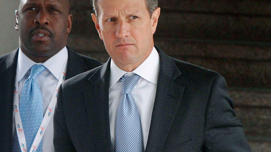 Abgewatscht: US-Finanzminister Geithner in Breslau