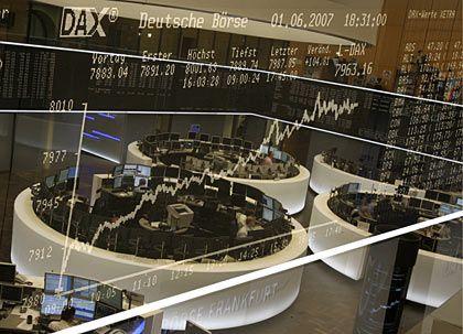Auf hohem Niveau: Börse in Frankfurt