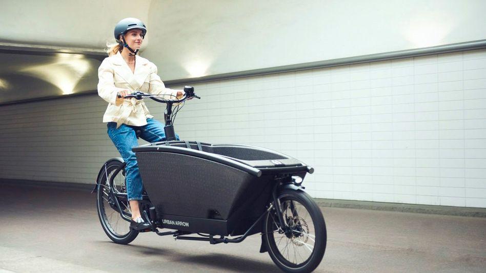 Familienkutsche: Die elektrischen Lastenräder von Urban Arrow gehören inzwischen dem niederländischen Volkswagen-Partner Pon