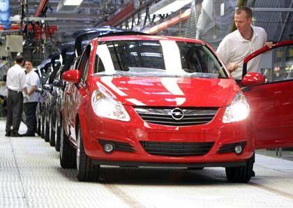 Opel-Produktion in Eisenach: Die Nachfrage nach dem Corsa ist um 70 Prozent gestiegen, beim Agila hat sie sich sogar verdoppelt