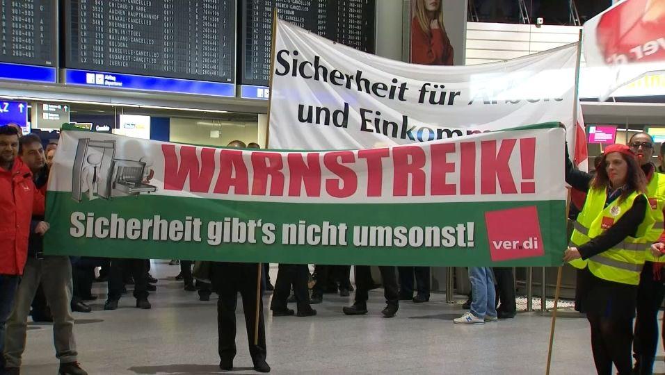 Verdi Flughafen Streik