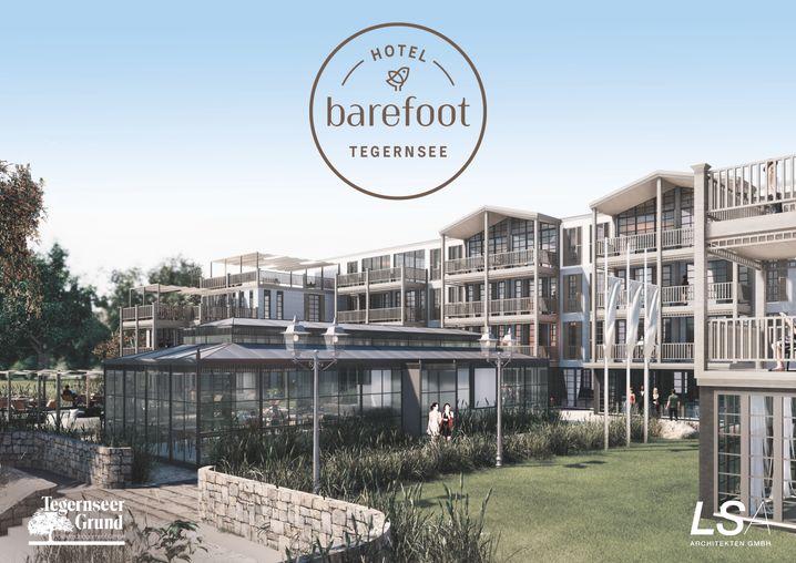So soll es einmal aussehen: Planungsskizze des Barefoot Hotels Tegernsee