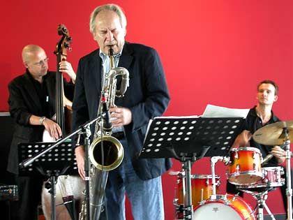 Macht mit Ex-Deutsche-Börse-Chef Werner Seifert Musik: August-Wilhelm Scheer am Saxofon