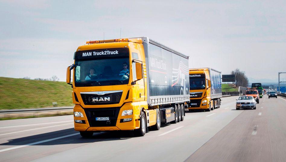 Traton besteht aus den VW-Töchtern MAN und Scania sowie der brasilianischen Nutzfahrzeugtochter