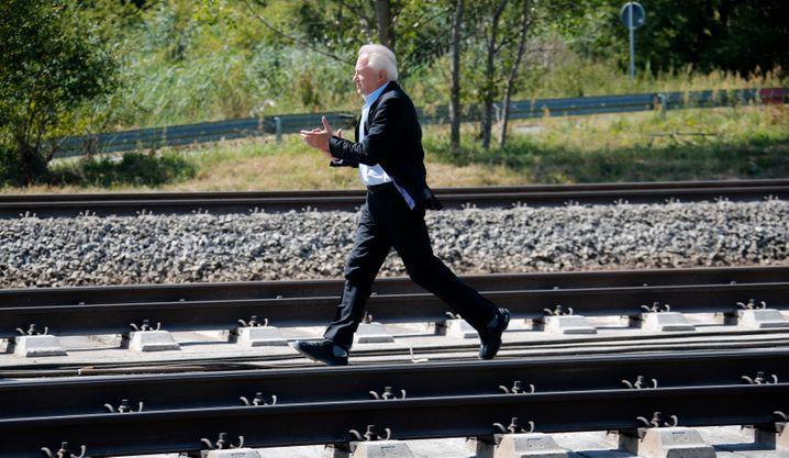 Unablässig für die Bahn unterwegs, trotzdem läuft es nicht: Bahn-Chef Rüdiger Grube.