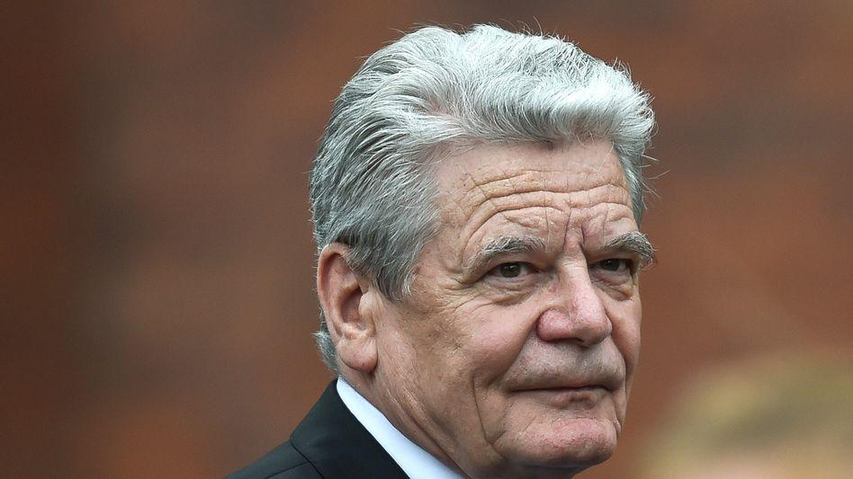 """Bundespräsident Joachim Gauck: """"Ich kann nur schwer verstehen, wenn ausgerechnet Länder Verfolgten ihre Solidarität entziehen, deren Bürger als politisch Verfolgte einst selbst Solidarität erfahren haben"""""""