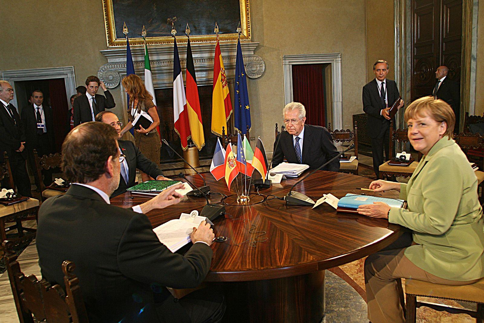 Merkel Monti Rajoy Hollande