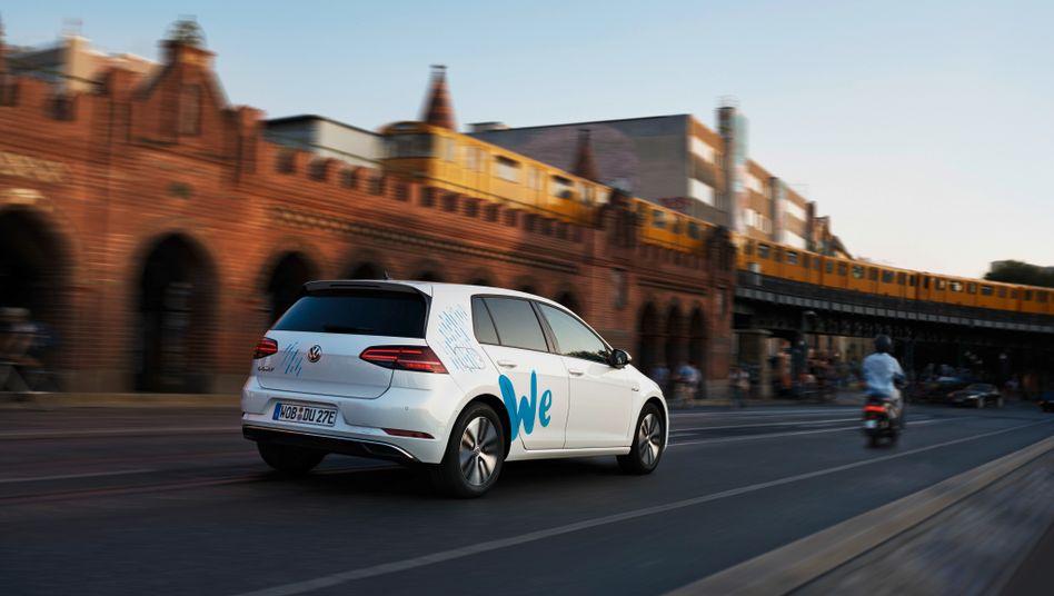 Bislang nur in Berlin: Der Carsharing-Dienst WeShare von Volkswagen