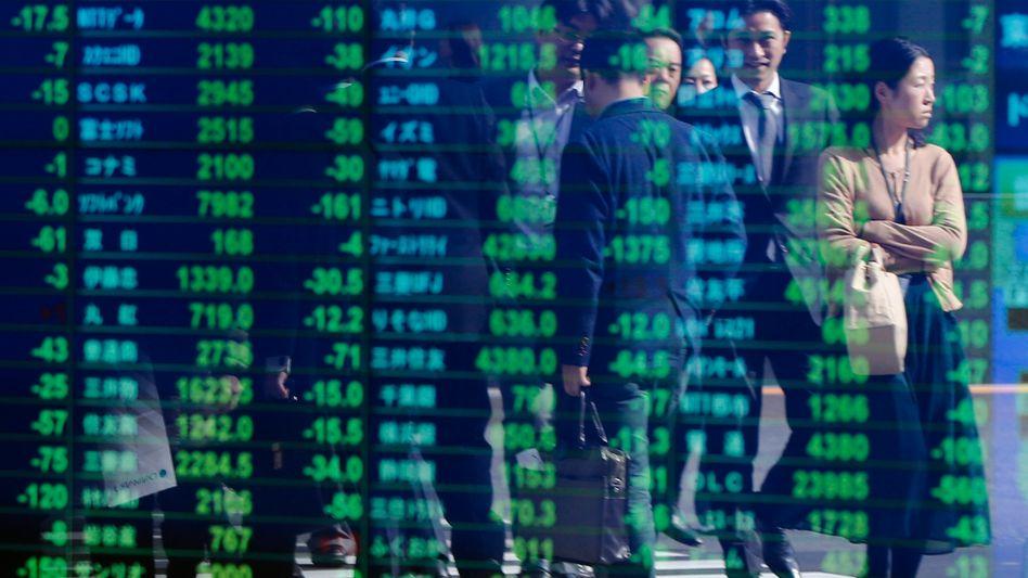 Börsenkurse in Tokio: Der Nikkei verliert kräftig