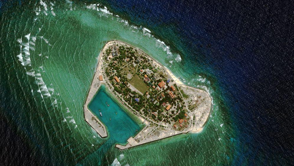 Südchinesisches Meer: Peking lässt künstliche Insel aufschütten