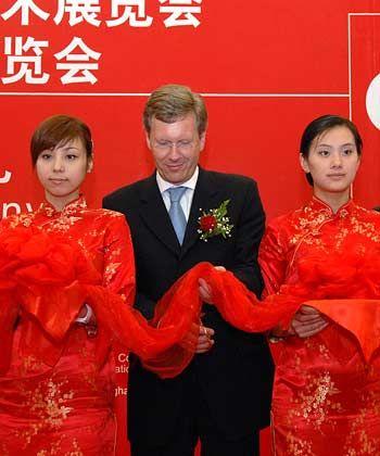 Auch die Cebit ist schon in China vertreten: Niedersachsens Ministerpräsident Christian Wulff eröffnet die IT-Fachmesse in Shanghai