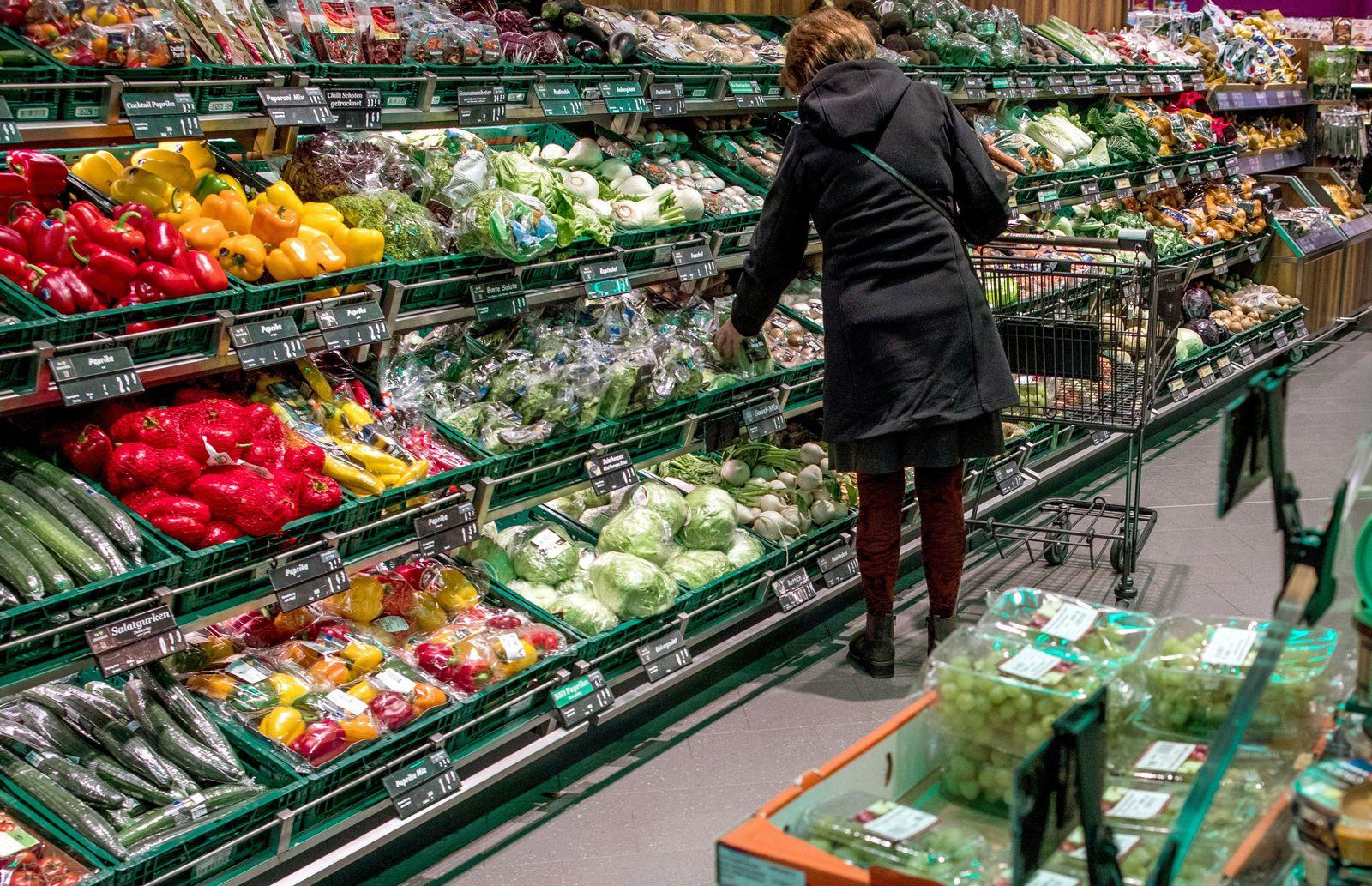Lebensmittel im Supermarkt