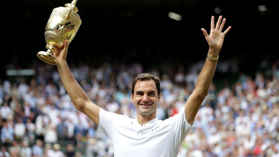 Roger Federer, Wimbledon-Rekord-Champion