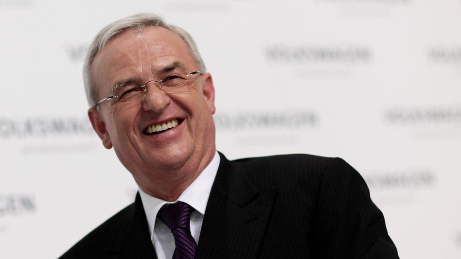 Auf dem Weg in schwierigere Zeiten: VW-Boss Winterkorn